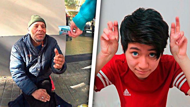 El joven youtuber que dio galletas con dentífrico a un mendigo irá a juicio