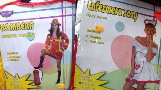 Denuncian la venta de disfraces de 'enfermera sexy' para niñas