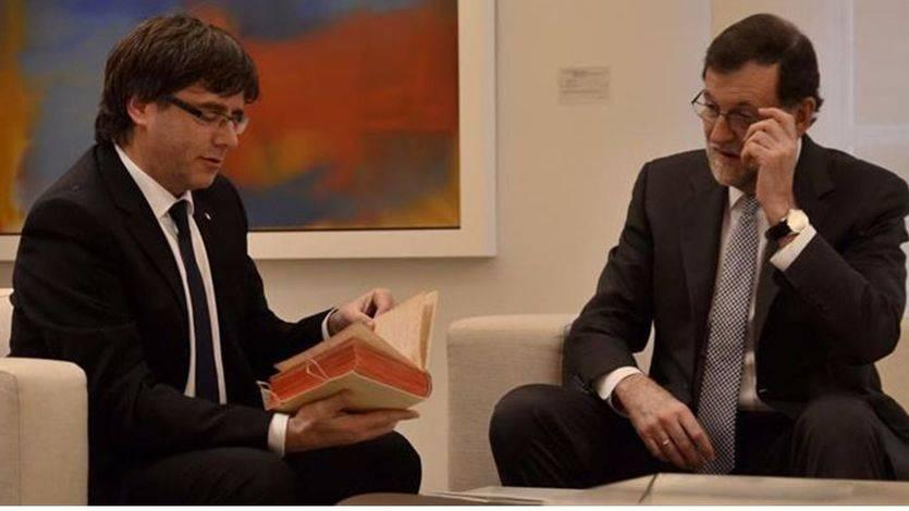 Rajoy quiere pedir a Puigdemont una segunda cita en La Moncloa