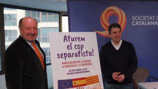 """Societat Civil Catalana convoca una manifestación el 19-M contra el """"golpe a la democracia"""" del gobierno catalán"""