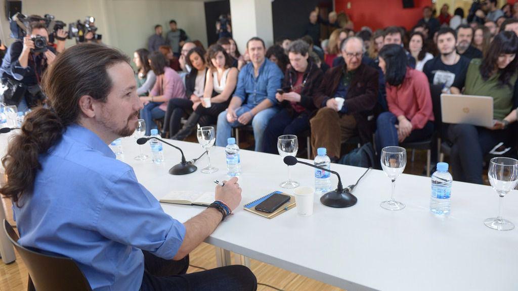 Primer 'consejo de ministros' del Gobierno en la sombra de Podemos