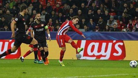 Champions: el Atlético 'negocia' un empate ante el Bayer y se mete en cuartos (0-0)