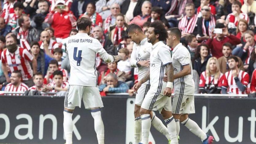 El Madrid salva el escollo de San Mamés ante un Athletic espeso y es más líder (1-2)