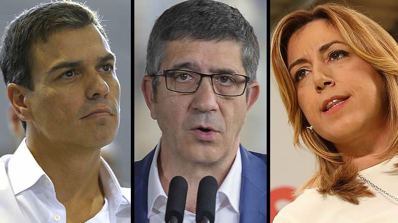 PSOE: así están repartidos en estos momentos los apoyos a cada candidato de las primarias