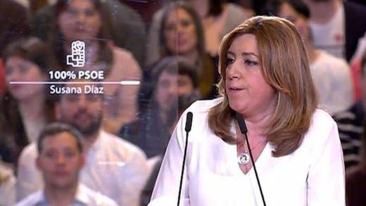 Susana Díaz presenta su candidatura a liderar el PSOE para