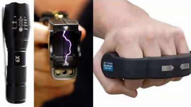 Armas que se venden como si nada en Internet: del táser a la linterna táctica