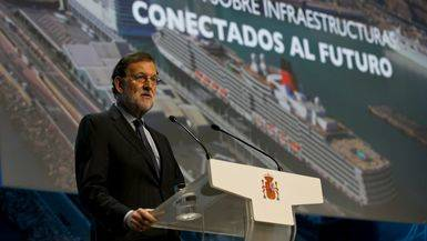 Rajoy, durante su intervención en la inauguración de la jornada sobre infraestructuras