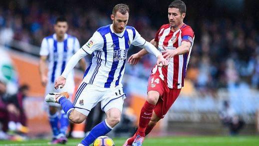Un Atlético práctico se impone sin sufrir a una Real demasiado retórica (1-0)