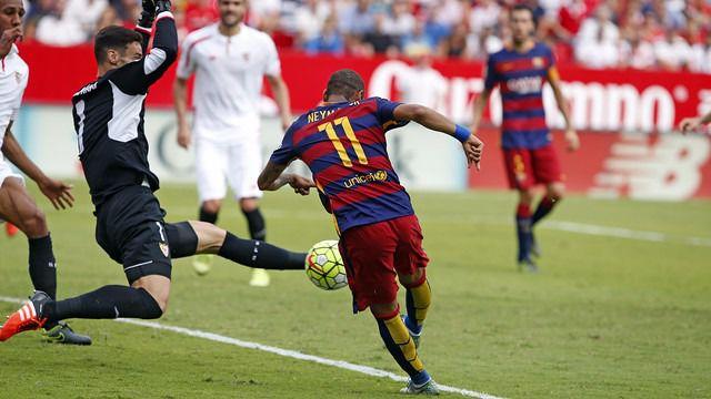 Barça y Madrid cumplen y golean a Sevilla (3-0) y Leganés (2-4), respectivamente