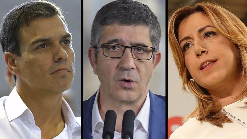 Los candidatos a las primarias del PSOE se despiden así de Carme Chacón