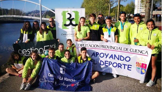 El Club Piragüismo Cuenca con Carácter, al que apoya la Fundación Globalcaja, ganó 6 medallas en Pontevedra