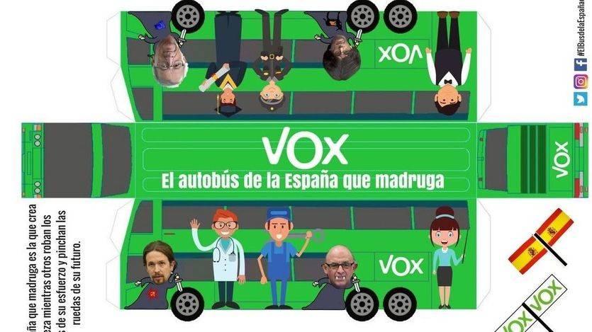 VOX parodia a Podemos con un autobús que cuesta sólo 7 euros