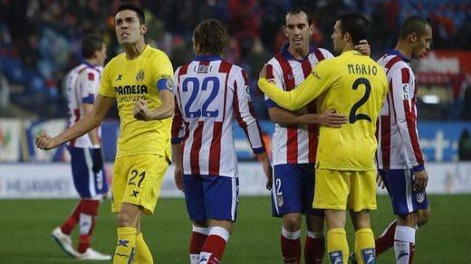 Un partido de 'Pupas': el Atlético falla ocasiones y cae ante el Villarreal (0-1)