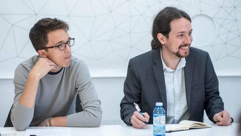 Pablo Iglesias e Íñigo Errejón, juntos en la primera reunión del Gobierno en la sombra de Podemos