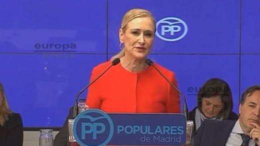 Cifuentes promueve la democracia interna para elegir al sustituto de Aguirre