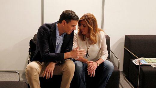 Susana Díaz y Pedro Sánchez ya tienen algo en común: su discurso frente a Iglesias
