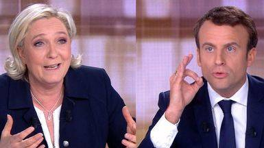 Macron ridiculiza a una 'indocumentada' Le Pen en el último debate antes de las elecciones