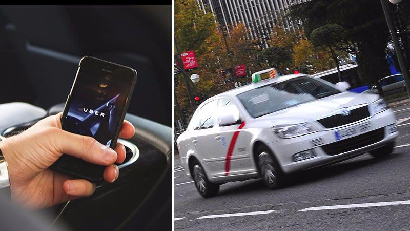 Uber reabre la guerra con el taxi con viajes a 5 euros en Madrid