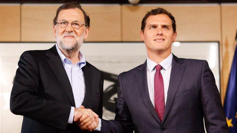 Rajoy y Rivera, entusiasmados, felicitan a Macron por su gran victoria