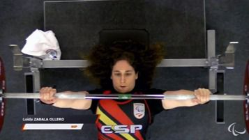 Más éxitos paralímpicos: Loida Zabala, vencedora en la Copa del Mundo de Halterofilia