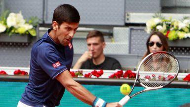 Open de tenis de Madrid: Djokovic elimina a Feliciano y Murray cae antes de tiempo