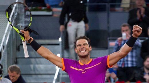 Nadal, único tenista español que queda vivo en el Open de Madrid