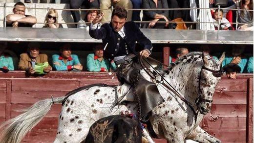 Andy Cartagena durante su actuación este domingo en Las Ventas