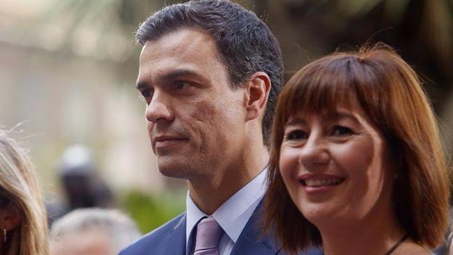 La presidenta de Baleares, Francina Armengol, retira su apoyo a Patxi López y vuelve a ser 'sanchista'