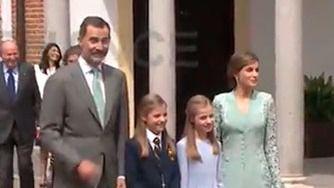 Reyes con la Princesa Sofía y la infanta Leonor
