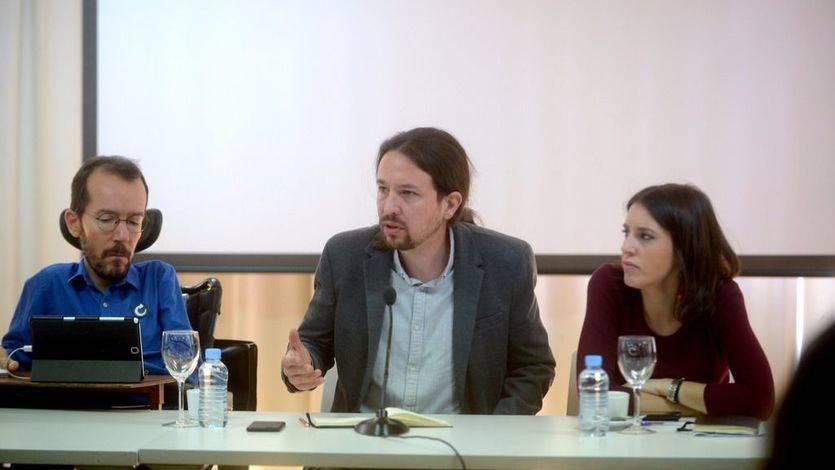 Pablo Iglesias, Irene Montero y Pablo Echenique al comienzo del Consejo Ciudadano