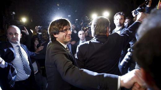 Y en pleno auge soberanista, Puigdemont celebra su acto incendiario en Madrid