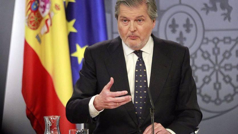 El portavoz del Gobierno, Íñigo Méndez de Vigo, durante la rueda de prensa posterior al Consejo de Ministros.