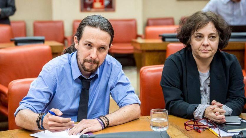 Pablo Iglesias y Gloria Elizo acuden a la comparencia del ministro Catalá en la comisión de Justicia