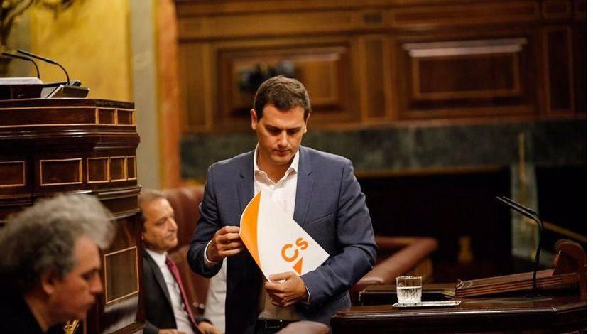 Ciudadanos define a última hora su puesta en escena en la moción de censura
