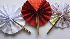 Youtube enseña a Sánchez Martos cómo hacer abanicos de papel (manual en vídeo)