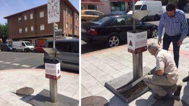 Un invento muy practico: urinarios para perros, que se estrenan en Azuqueca