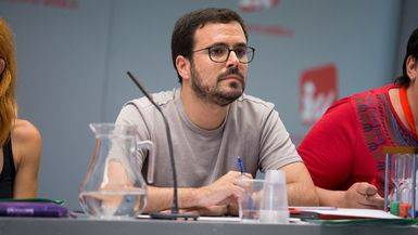 Alberto Garzón en la Asamblea Político Social de IU de este sábado