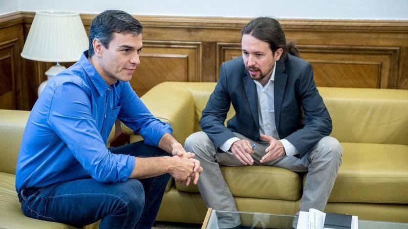 Sánchez e Iglesias acuerdan trabajar juntos en una agenda parlamentaria sin un horizonte definido