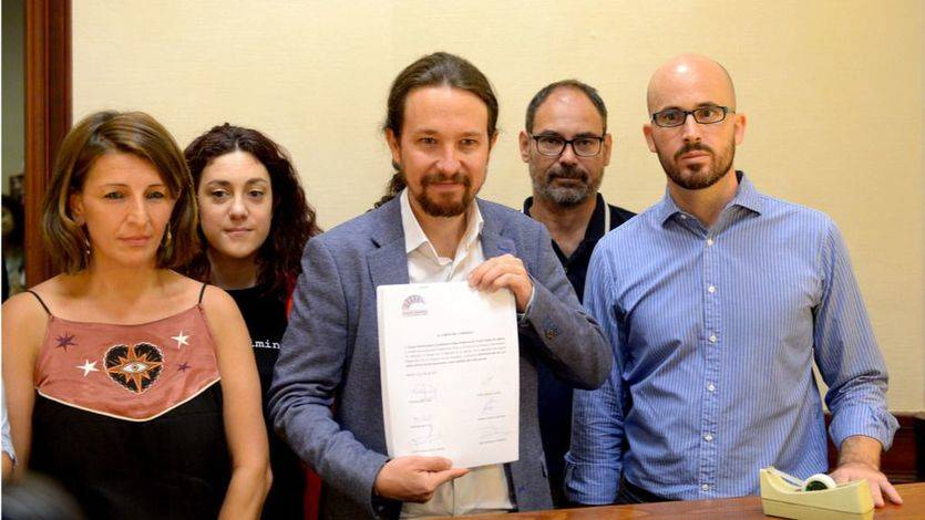 Unidos Podemos amaga con salirse del pacto de Estado sobre pensiones y registra ya una alternativa