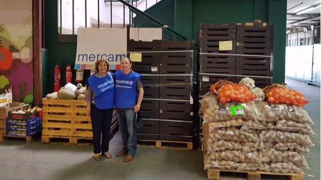 La campaña 'Operación Caja', del Banco de Alimentos de Madrid junto a Mercamadrid, recoge 38.000 kilos de alimentos
