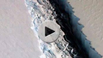 Un iceberg 100 veces más grande que Manhattan está a punto de separarse de la Antártida