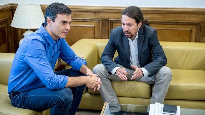 Pedro Sánchez y Pablo Iglesias durante su reunión del pasado junio