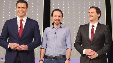 Las posiciones centristas suben (PSOE y Ciudadanos) y las más extremas caen (PP y Podemos)