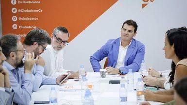 Los dirigentes de Ciudadanos durante una reunión de su ejecutiva