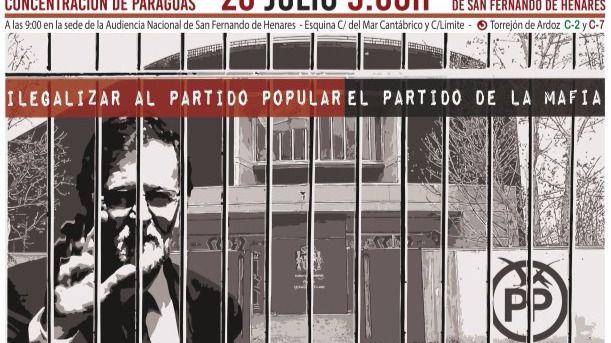 Rajoy declarará el miércoles en la Audiencia frente a una concentración popular