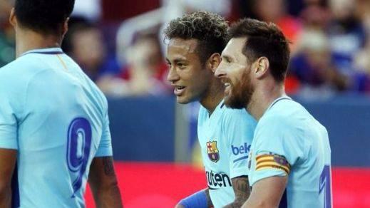 Y Neymar sigue brillando... el brasileño marca el 1-0 del Barça ante el United