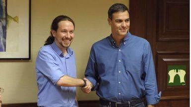 Sánchez e Iglesias acuerdan la comparecencia urgente de Rajoy en el Congreso