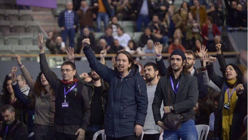 Pablo Iglesias durante la Asamblea de Vistalegre II
