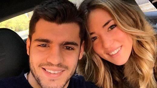 Morata y su novia Alice Campello, estrellas totales en Inglaterra