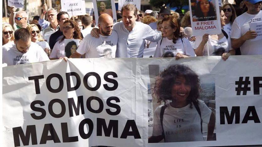 Imagen de la marcha de Sevilla para reclamar la libertad de Maloma.